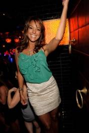 Eva LaRue parties at Lavo Nightclub.