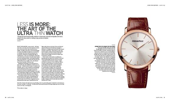Less Is More: The Art Of The Ultra Thin Watch