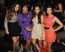Khloe Kardashian, Kris Jenner, Kim Kardashian and Kourtney Kardashian at Tao.