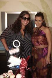 Khaela Humphries and Kim Kardashian at Azure Luxury Pool.