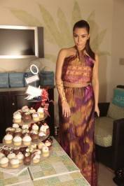 Kim Kardashian was treated to a cupcake tree from Sweet Surrender today at Azure Luxury Pool.
