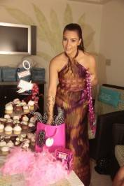 Kim Kardashian finds out what is in her gift bags at Azure Luxury Pool.