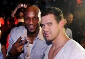 NBA players Lamar Odom and Kris Humphries at Lavo.