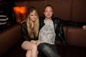 """Breaking Bad"" actor Aaron Paul with Lauren Parsekian at Tao Nightclub Las Vegas."