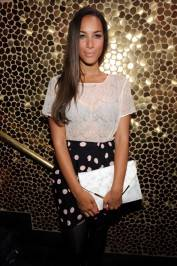 Singer Leona Lewis parties with friends at Tao Nightclub.