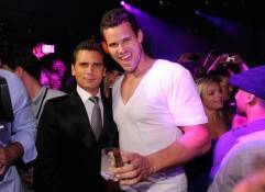 Scott Disick and Kris Humphries at Lavo.