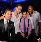 Scott Disick, Kris Humphries, Robert Kardashian Jr. and Lamar Odom at Lavo.