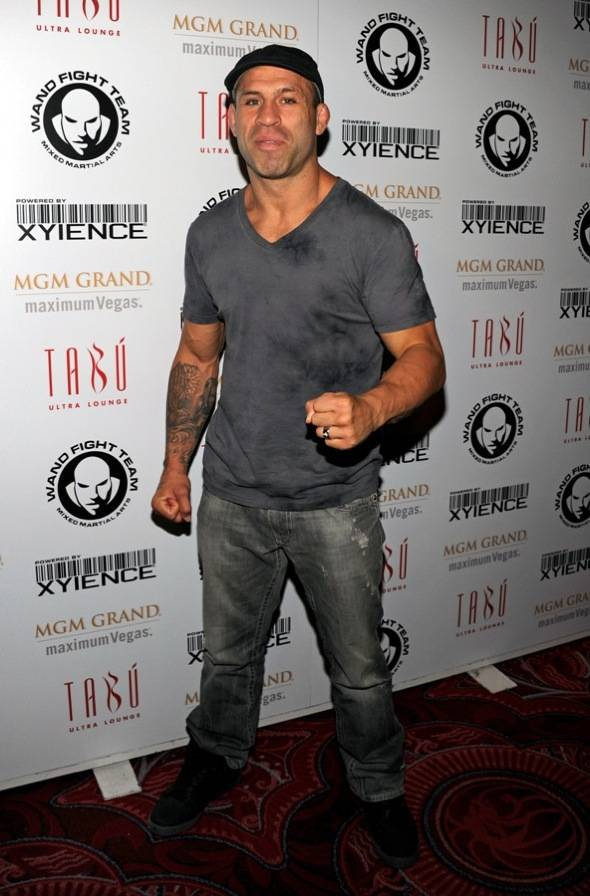 Wanderlei Silva on Carpet at Tabu Ultra Lounge, Las Vegas, 7.2.11
