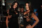 Dennis Rodman celebrates at XS Nightclub.