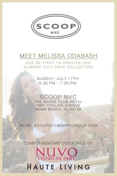 Haute Living Invites You to Meet Designer Melissa Odabash at Scoop NYC at The Shore Club Hotel