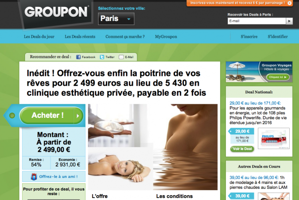 Haute MD: Groupon Selling Breast Implants