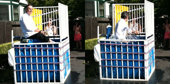 Chef Thomas Keller Gets Dunked