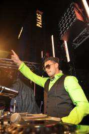 "DJ Pauly D gives a shout out to the crowd at ""A Midsummer Night's Dream - Enchanted Lingerie Masquerade"" at the Palms."