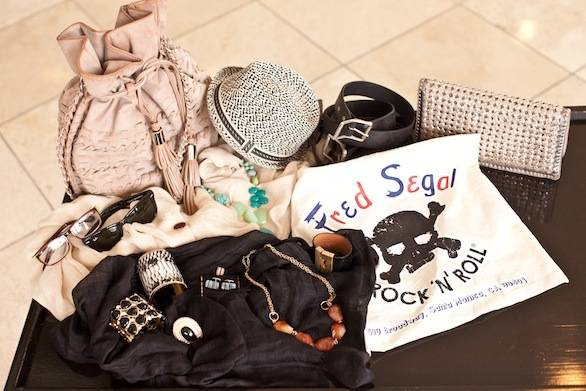 The Fred Segal Accessories Lending Library at the Loews Santa Monica Beach Hotel