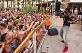 Jason Derulo performs at the Revel Pool Party at Hard Rock Beach Club.