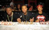 Cali Swag District celebrates group member Smoove Da General's 21st birthday at Sugar Factory American Brasserie.