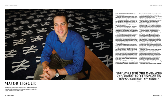 Mark Teixeira Talks to Haute Living New York About Living His Childhood Dream of Being a Yankee