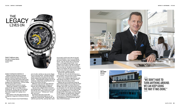 In This Issue of Haute Living Miami: Patrik P. Hoffmann Talks About His New Post as CEO of Ulysse Nardin