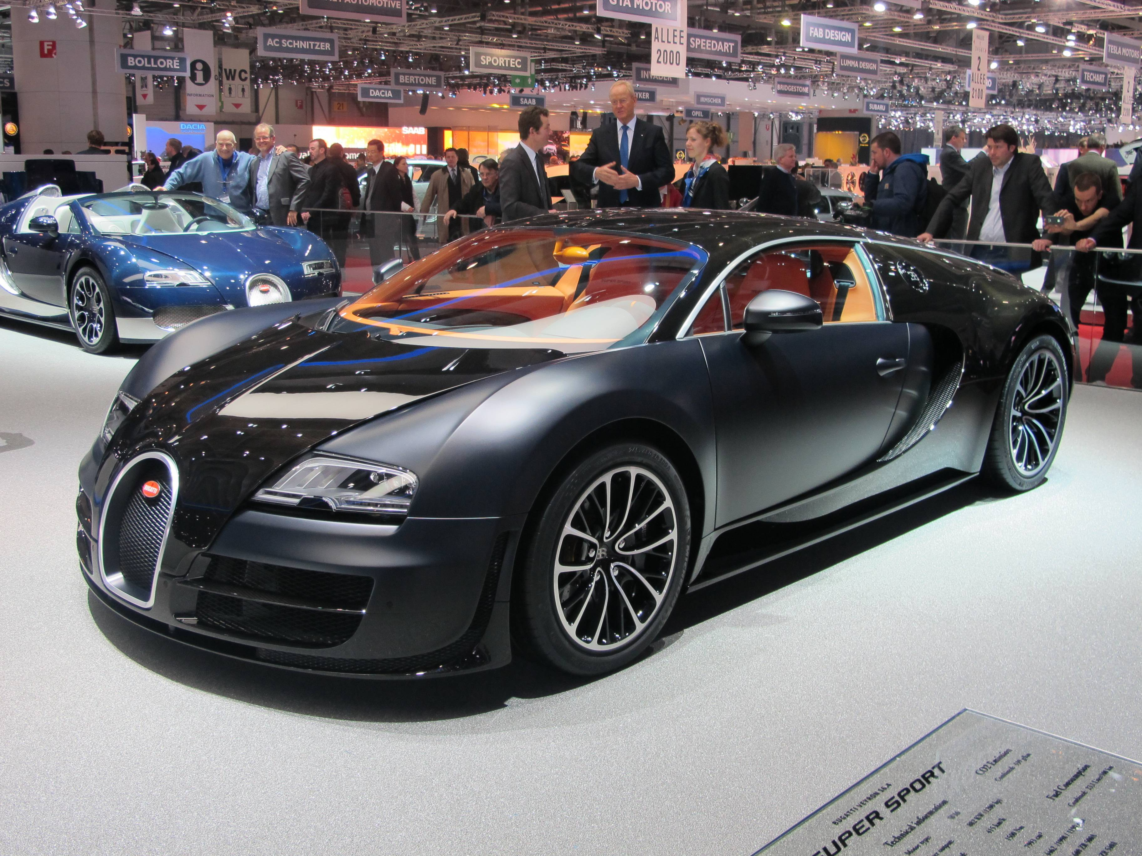 Geneva Motor Show - Bugatti's Speed Breaking Super Sport