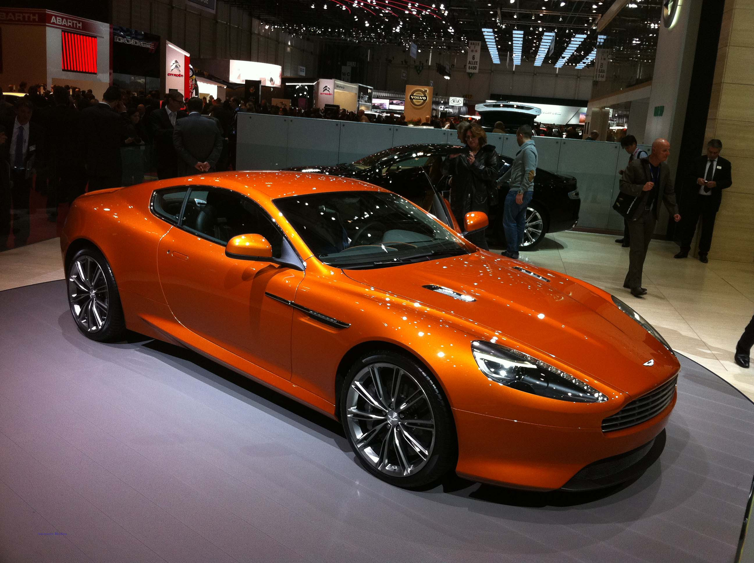 Geneva Motor Show. Aston Martin Virage