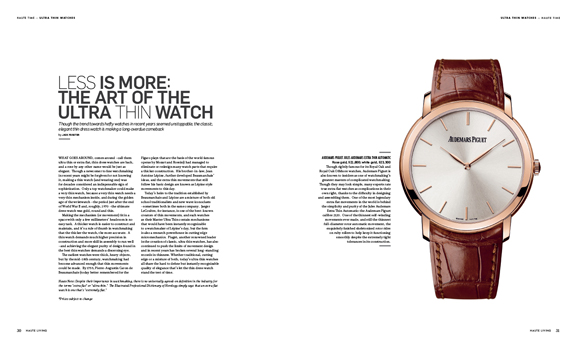 In This Issue of Haute Living San Francisco: Piaget Emperador Coussin Tourbillon Automatic
