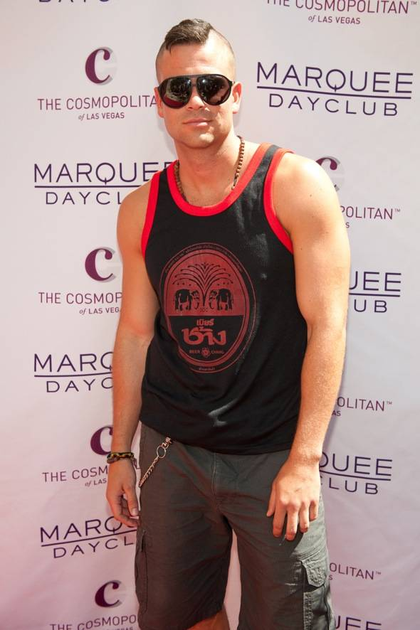 Mark Salling_Marquee Dayclub carpet
