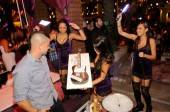 "Actor Mark Salling from the FOX hit television show ""Glee"" celebrates his birthday with a custom guitar cake at Marquee Nightclub."