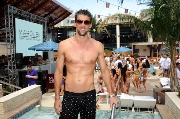 Haute Event: Michael Phelps Parties at Marquee