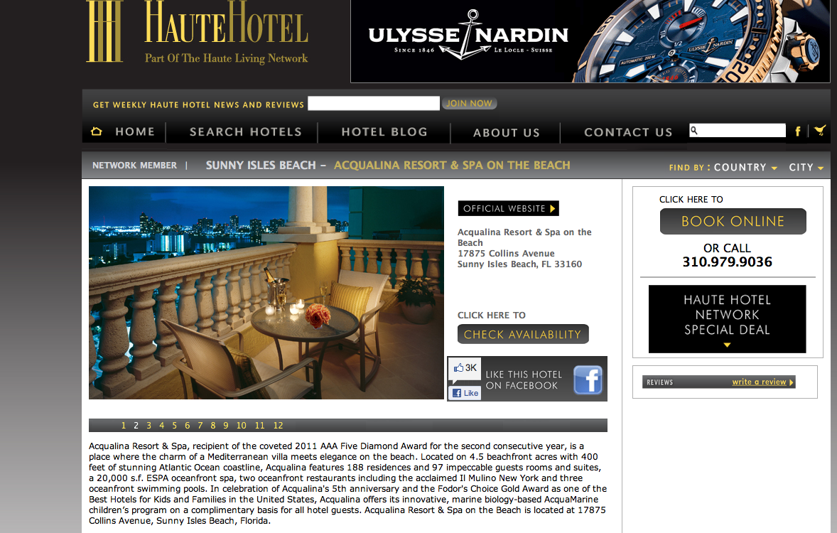 Haute Hotel: The Acqualina Resort & Spa