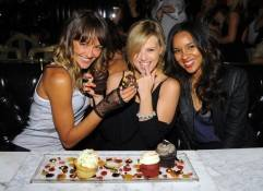 """Blue Crush 2"" actress Sharni Vinson helps co-stars Sasha Jackson and Elizabeth Mathis celebrate their birthday at Sugar Factory American Brasserie."