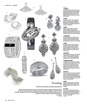 Délices de Cartier Watch in This Issue of Haute Living San Francisco