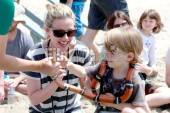 Kathleen Robertson and her son William