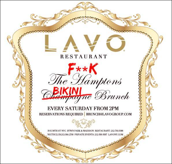 Haute Event: LAVO F*** The Hamptons Bikini Brunch