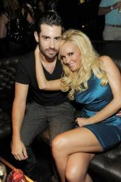 Bridget Marquardt celebrates her birthday with her boyfriend Nicholas Carpenter in the VIP section at Gallery Nightclub.