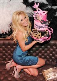 Bridget Marquardt is surprised with birthday cake at Gallery Nightclub.