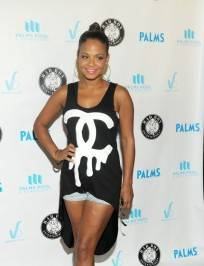 Christina Milian on the red carpet at the Palms Pool & Bungalows.