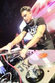 DJ Pauly D spins at Rain Nightclub.