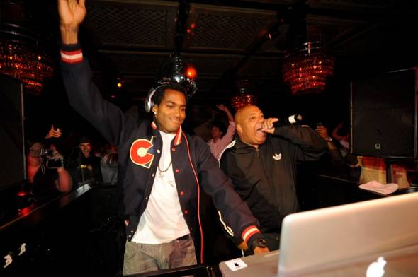 Dj Ruckus, and Rev Run of RUN DMC, at Lavo