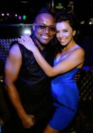 Eva Longoria and apl.de.ap party in the exotic VIP section at Gallery Nightclub in Las Vegas.