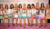 "The ladies of ""Fantasy"" on the pink carpet with 2012 ""Ultimate Fantasy"" calendars at the Luxor."