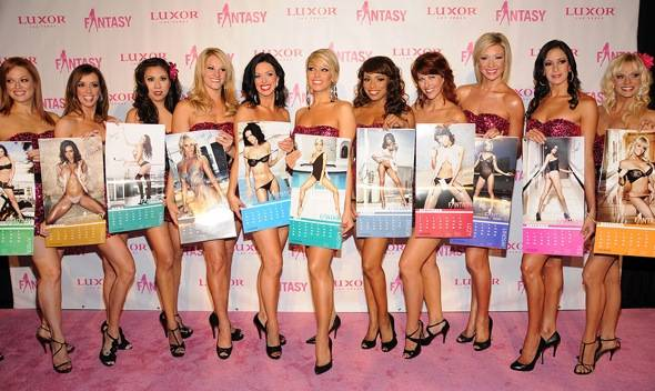 FANTASY on the pink carpet with 2012 calendar