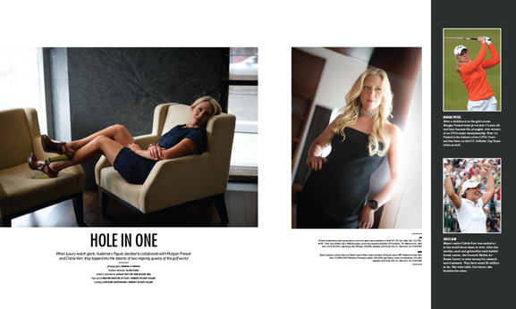 In This Issue of Haute Living New York: Audemars Piguet Teams Up With Golf Queens Morgan Pressel and Cristie Kerr
