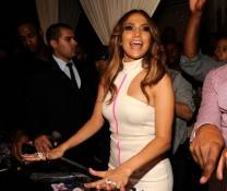 Jennifer Lopez makes special appearance at Pure Nightclub.