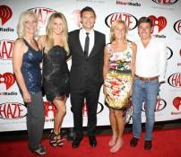 Julianne Hough, Ryan Seacrest and friends on the red carpet at Haze Nightclub.