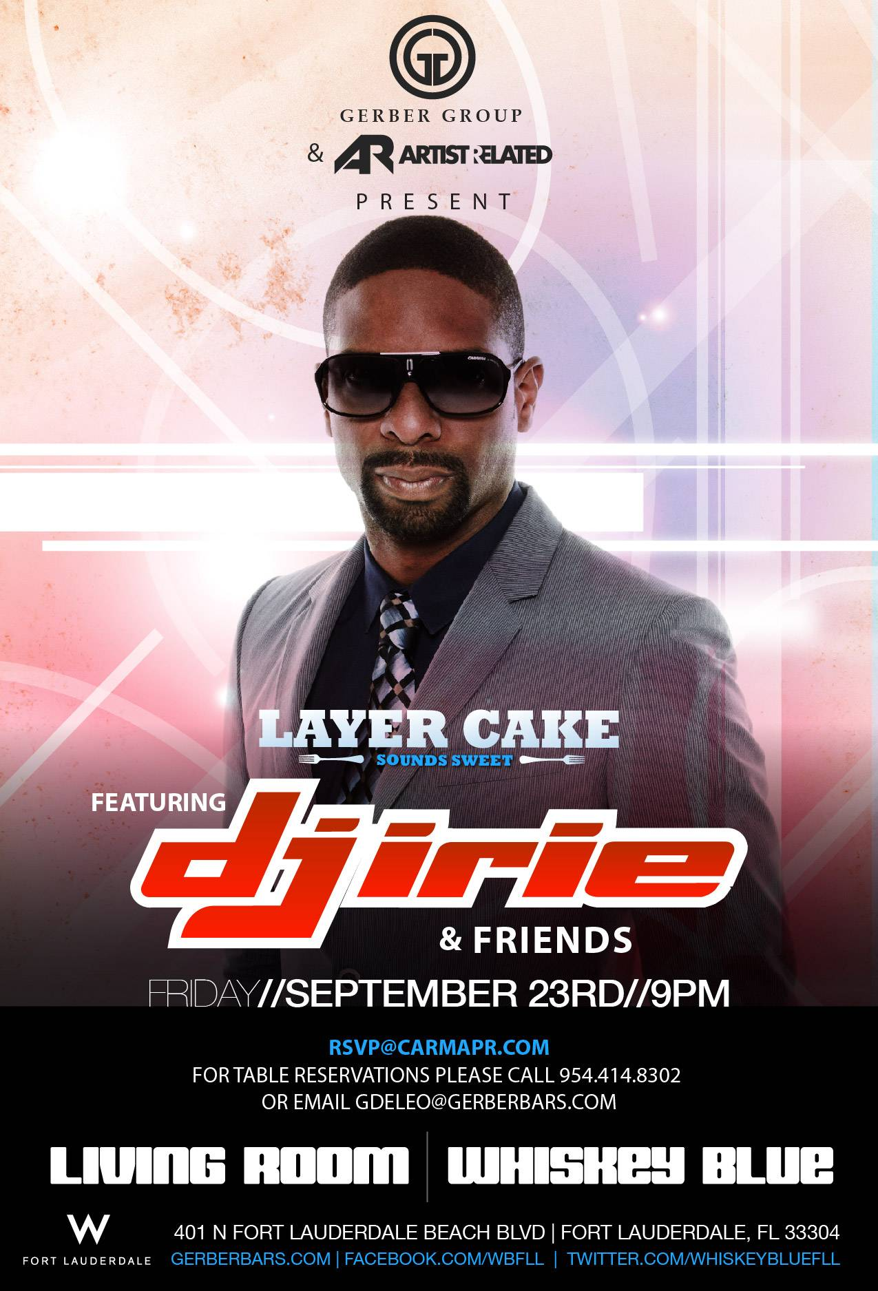 Renowned music series Layer Cake returns this Friday, September 23 at Living Room at W Fort Lauderdale