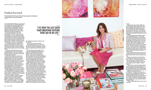 Oxygene Boutique's Shayne Cohen talks fashion, family and philanthropy in this issue of Haute Living Miami