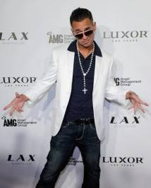 "Television personality Mike ""The Situation"" Sorrentino arrives at the LAX Nightclub."
