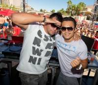 Deejays Nathan Scott and Tony Arzadon at Wet Republic.