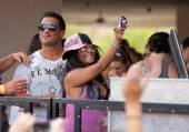 "Nicole ""Snooki"" Polizzi dances to the beats from Tiësto at Wet Republic."