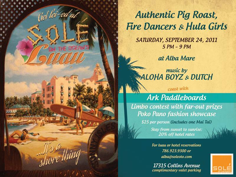 Solé on the Ocean says aloha to summer Hawaiian-style with live music, a pig roast and an exclusive fashion presentation
